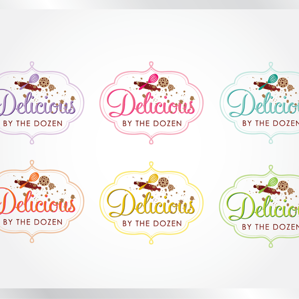 Dough design with the title 'logo for Delicious By The Dozen'