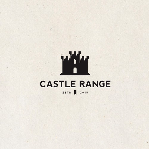 Yellow and black design with the title 'Castle Range :  custom carpet tread'