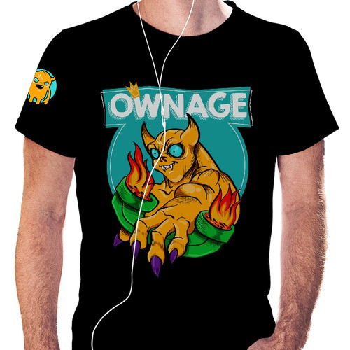"""Internet t-shirt with the title '""""Ownage"""" t-shirt contest'"""
