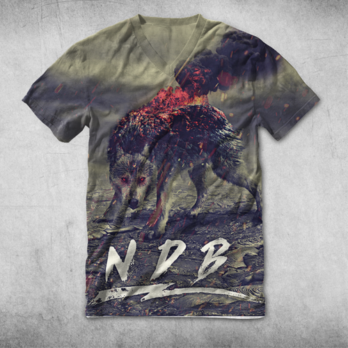Volcano design with the title 'NDB oil drilling team epic art work tshirt'