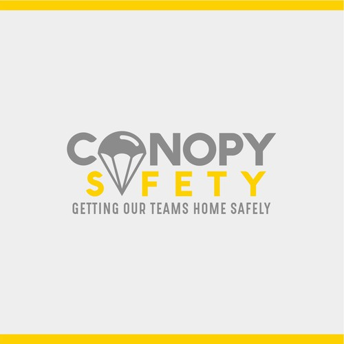 Parachute design with the title 'Logo concept for CANOPY SAFETY'