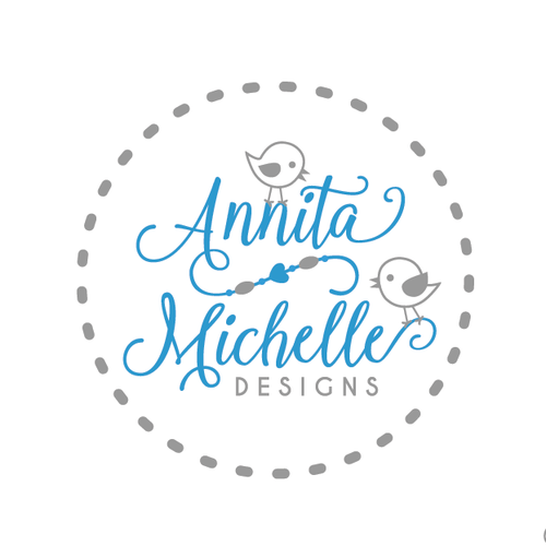 Necklace logo with the title 'Logo for an exciting new company specialising in teething jewellery for parents'