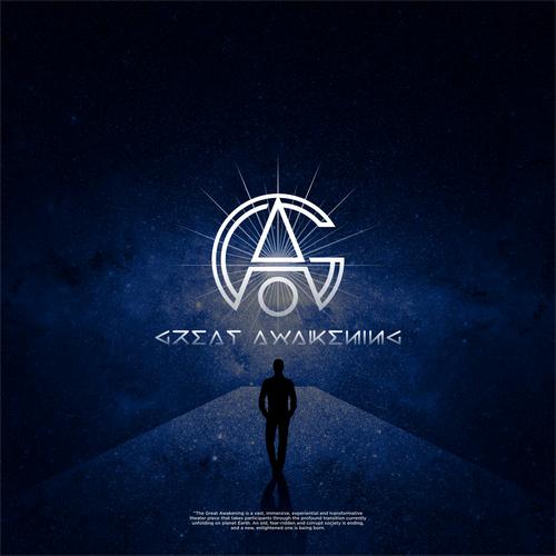 Humanity logo with the title 'Great awakening logo proposal'