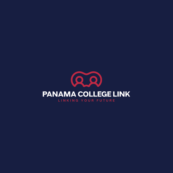 Link design with the title 'Panama College Link Logo'