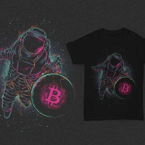 Retro t-shirt with the title 'Crypto to the Moon'