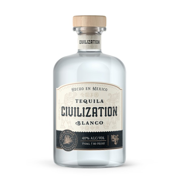 Tequila design with the title 'Civilization Tequila'