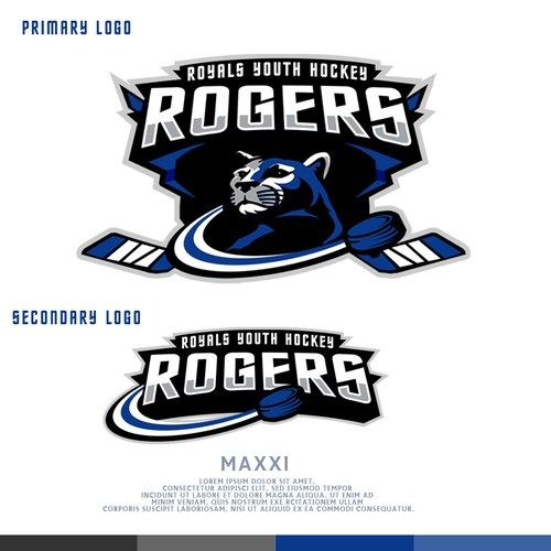 Cougar logo with the title 'Hockey Team'