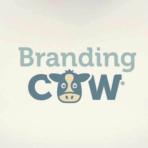 Adorable design with the title 'Branding Cow'