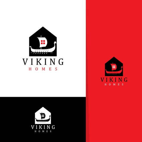 Viking brand with the title 'viking homes logo design'