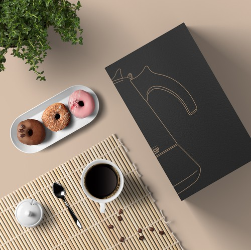 Home furnishing design with the title 'Luxury Packaging Design for London Sip'