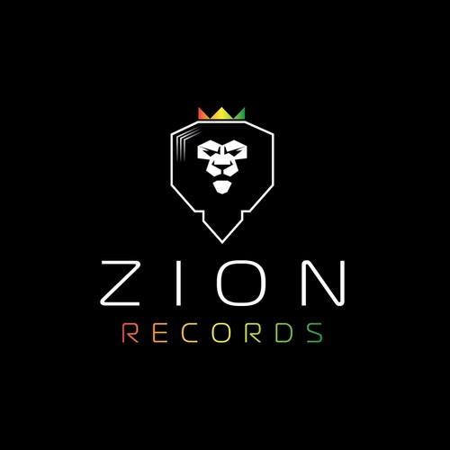 Lion brand with the title 'Zion Records'