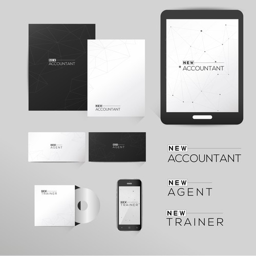 Outstanding logo with the title 'New Accountant'