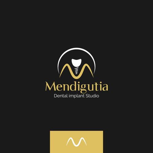 "Implant design with the title 'Logo For Dental Studio ""Mendigutia""'"