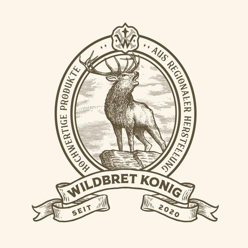Ligature logo with the title 'Logo design for Wildbret König'