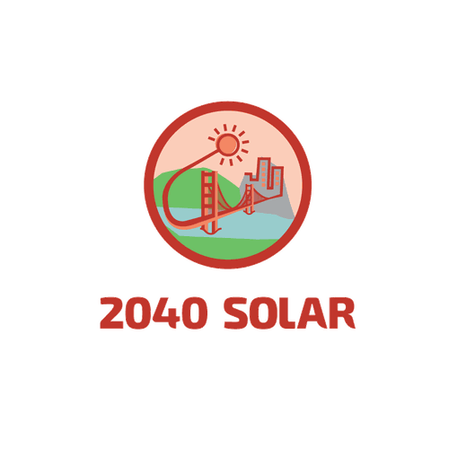 Panel design with the title '2040 solar'