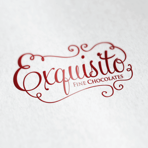 Chocolate logo with the title 'Create an elegant logo for a hot chocolate brand'