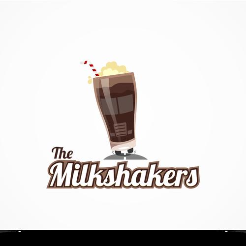 Milkshake design with the title 'Milk shake'