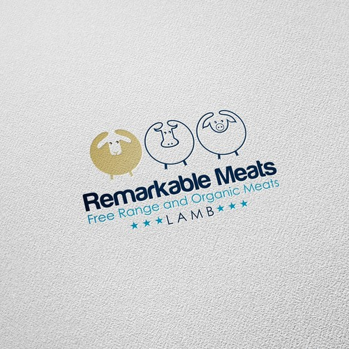 Organic food logo with the title 'Remarkable Meats'