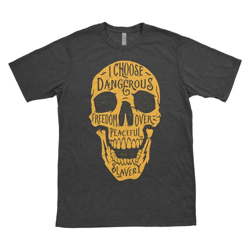 Occult design with the title 'Typography skull'