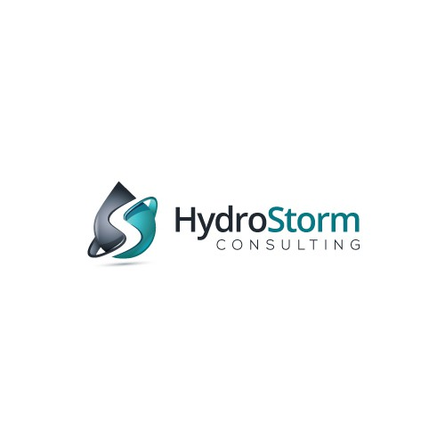 Drop design with the title 'HydroStorm Consulting needs a new logo'