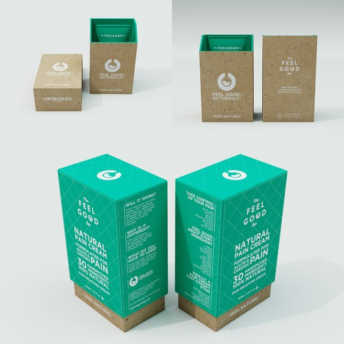 Redesigned packaging with the title 'Package Design Health Product'
