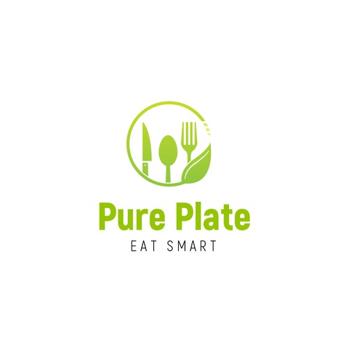 Plate logo with the title 'Smart logo for restaurant '