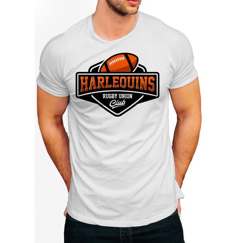 Unique t-shirt with the title 'Harlequins rugby'