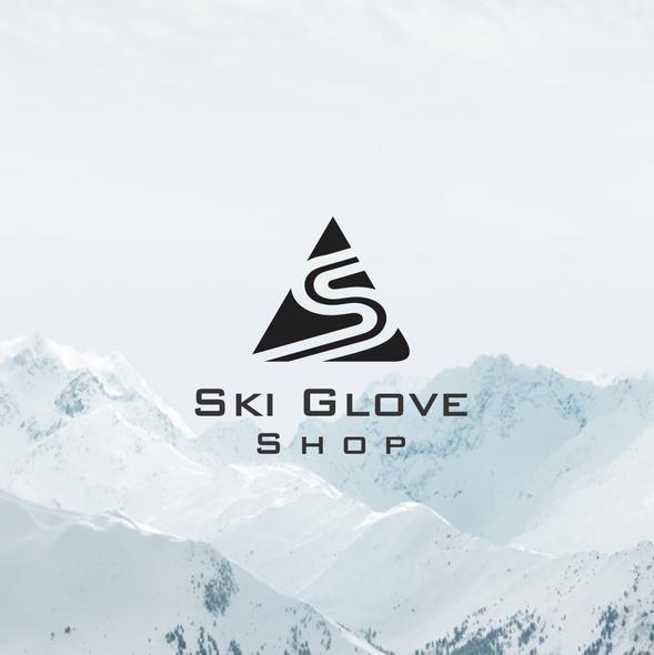 Monochromatic logo with the title 'Ski logo'