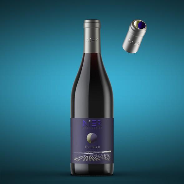 Shiraz Wine Bottle Labels