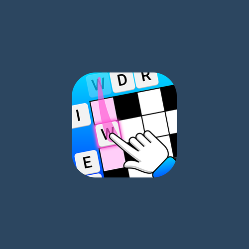 Puzzle design with the title 'Word Slide APP ICON'