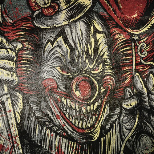 Scary design with the title 'Scary Clown'