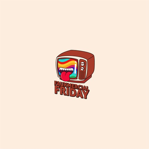 Comedy logo with the title 'Fauxmercial Friday '