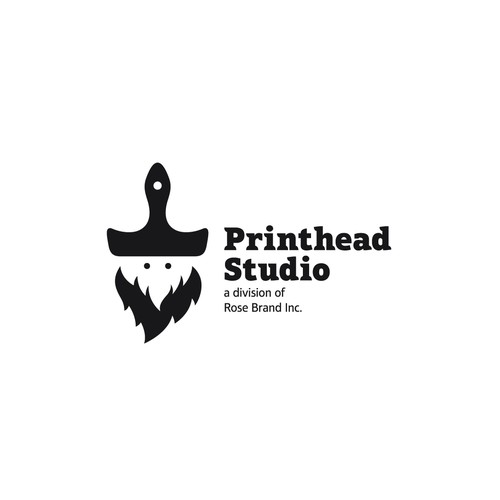 Beard logo with the title 'Printhead Studio'