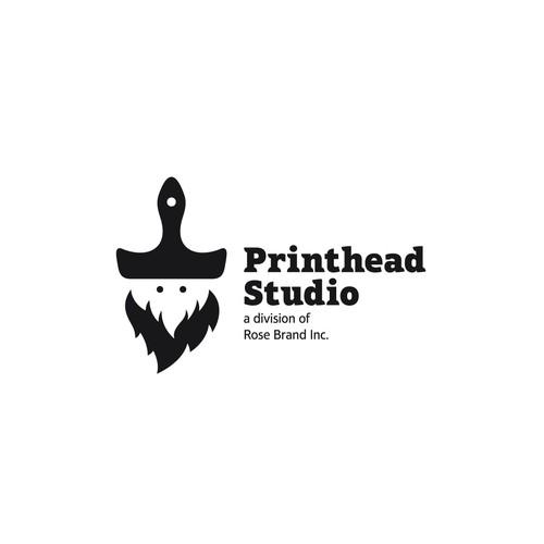 Beard design with the title 'Printhead Studio'