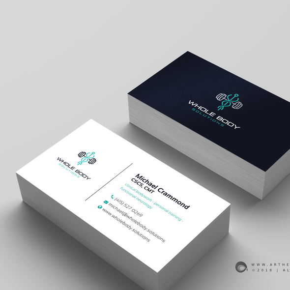 Physical therapy design with the title 'Business Card Design'
