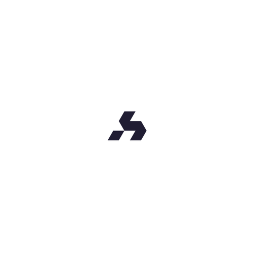 Stellar logo with the title 'Modern monogram - geometric style'