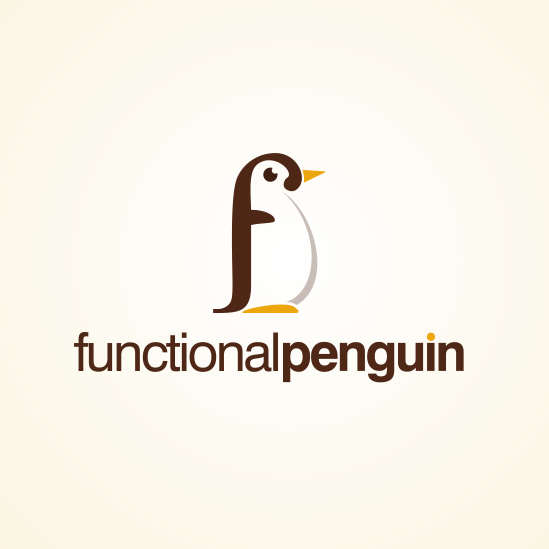 Functional design with the title 'Functional Penguin needs a new logo'
