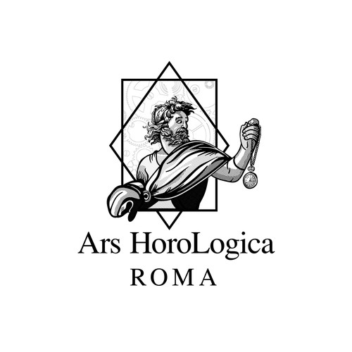 Stopwatch logo with the title 'Ars HoroLogica'