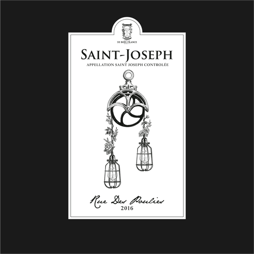 Botanical label with the title 'Design Label for Saint Joseph'