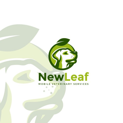 """Veterinary logo with the title 'Logo design for """"New Leaf""""'"""