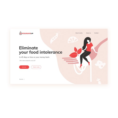 Stylized design with the title 'Landing Page design'