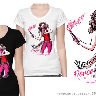 Fierce Girls Female t-shirt