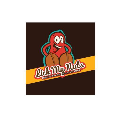 Silly logo with the title 'Logo for mixed nuts'