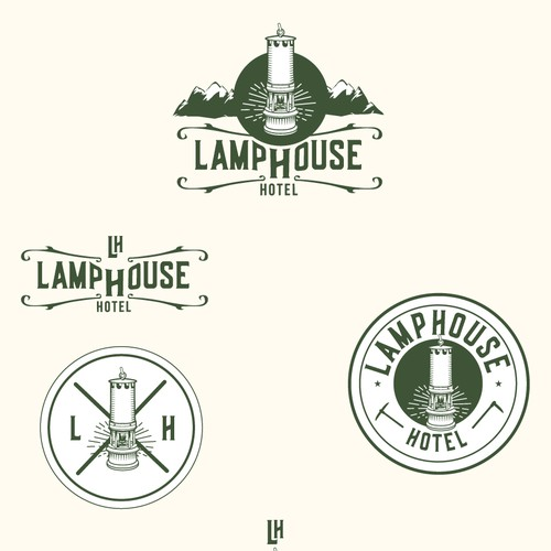 Hotel logo with the title 'Lamphouse Hotel'