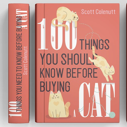 Cat book cover with the title 'Book Cover Design'