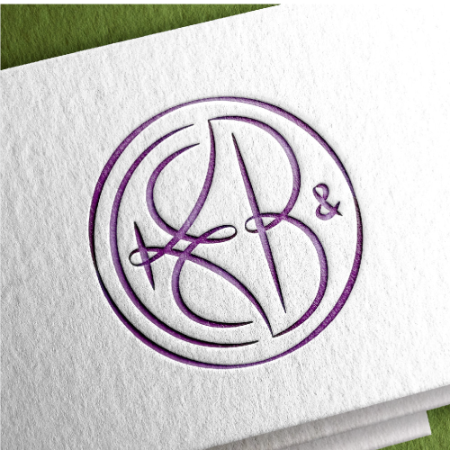 Embroidery design with the title 'Wedding monogram'