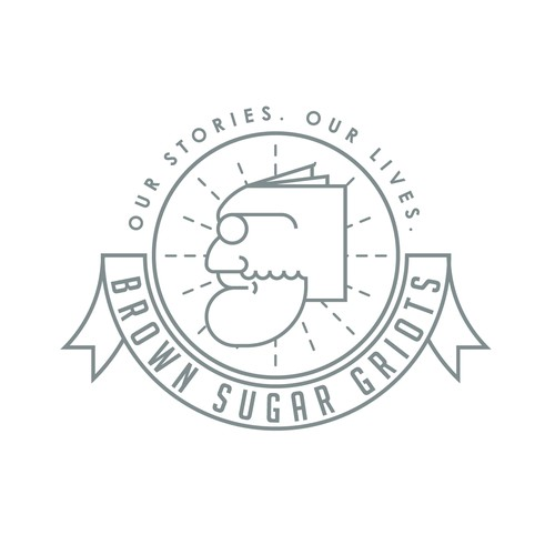 Bookstore design with the title 'Brown Sugar Griots Logo Design'