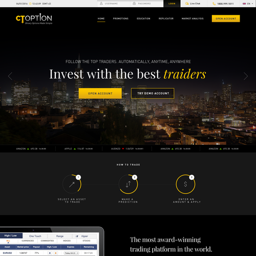 Investment website with the title 'Financial Web Design'