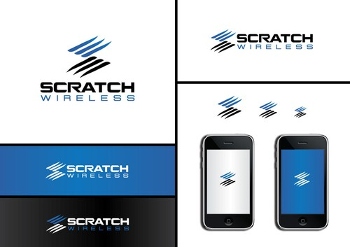Pictorial design with the title 'Scratch Wireless Logo'