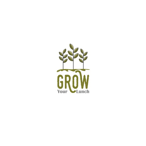 Vitality logo with the title 'Logo design proposal for Grow Your Lunch'